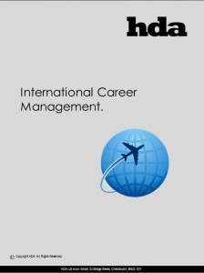 International Career Management brochure.